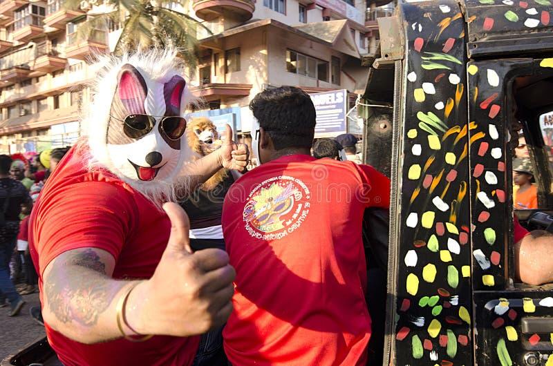 Goa Carnaval 2019, India royalty-vrije stock afbeeldingen