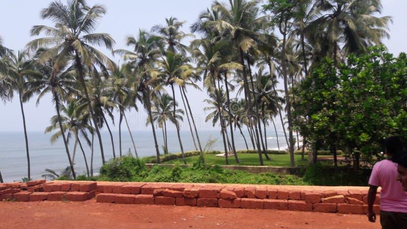 Goa da praia de Calangute imagem de stock