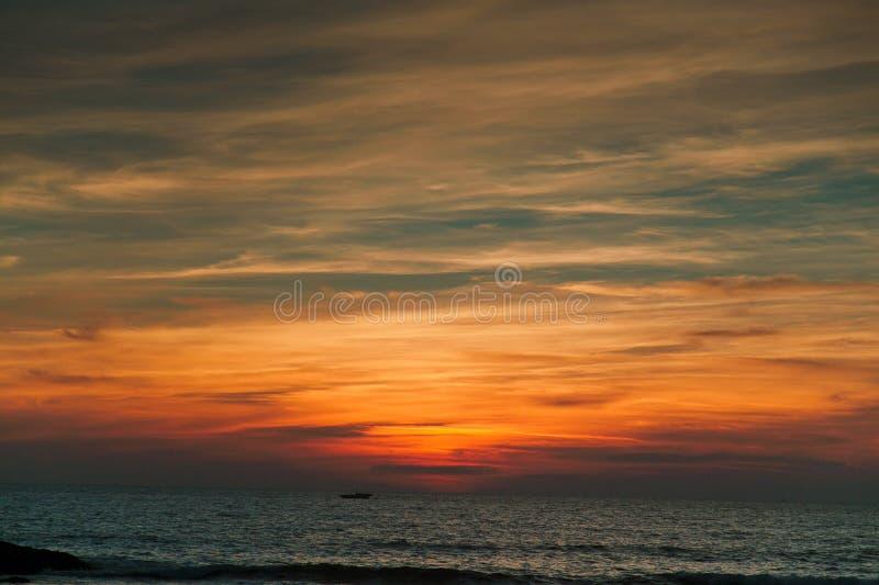 Goa de coucher du soleil photos libres de droits