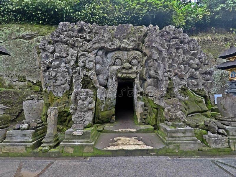 Goa Gajah świątynia, Bali obraz stock