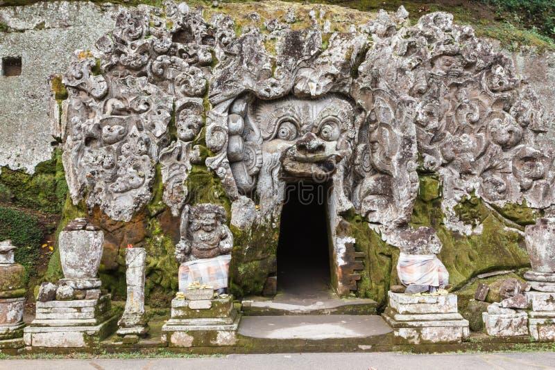 Goa Gajah in Bali stock photo