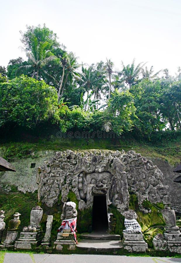 Goa Gajah, Bali stock afbeelding