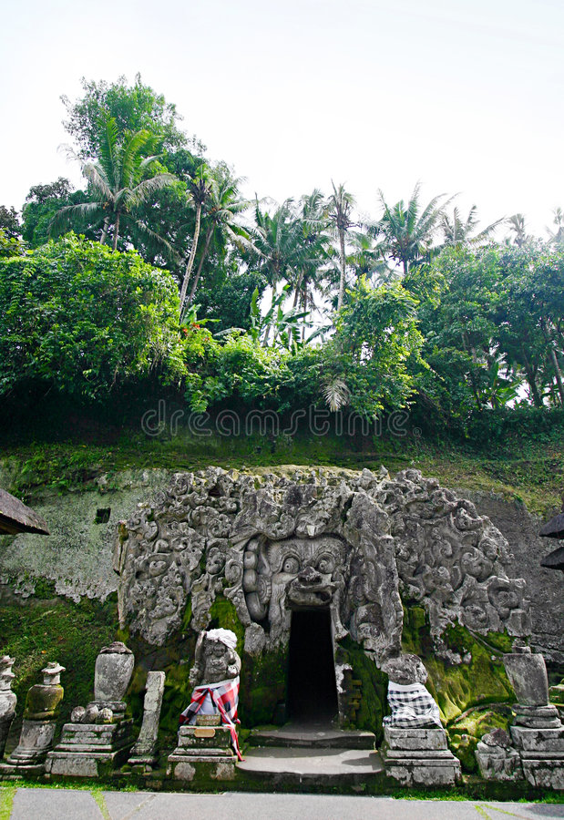 Goa Gajah, Bali Indonesia stock image