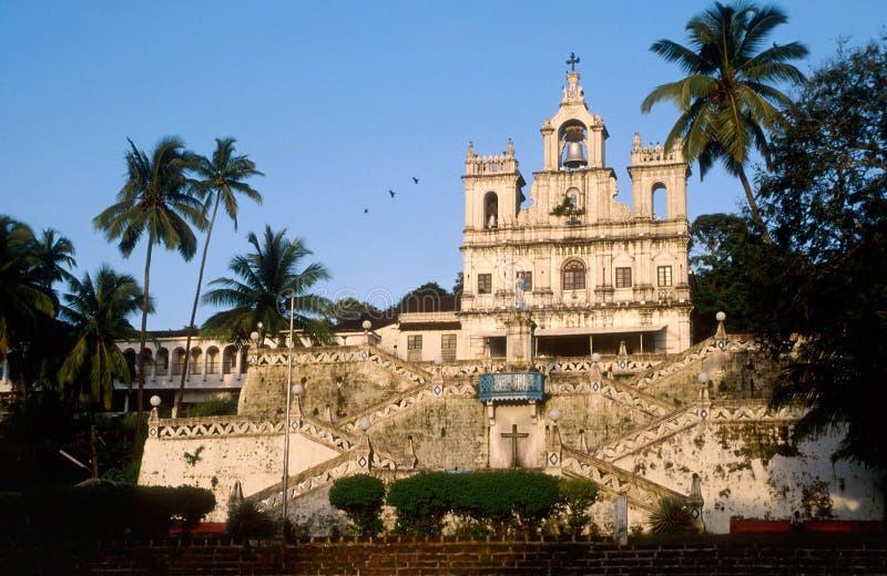 Goa, Inde : Notre dame de la conception d'Inmaculate photographie stock