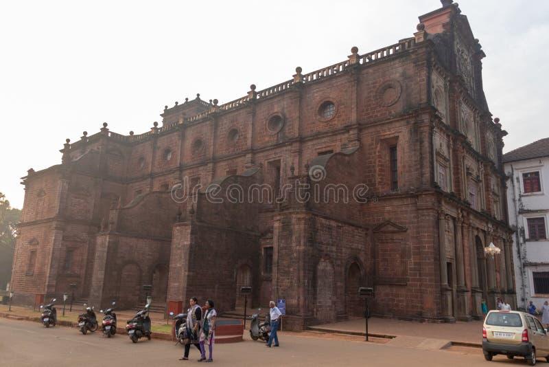 Goa India, Grudzień, - 20, 2018: Bazylika Bom Jezus, Ponda, Stary Goa zdjęcia stock