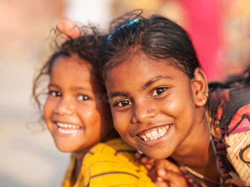 Indian children at beach, Goa royalty free stock image