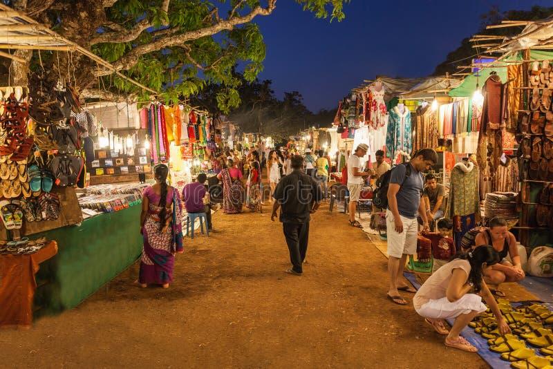 Goa nocy rynek zdjęcie stock
