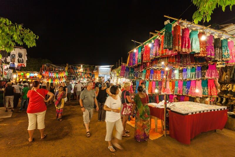 Goa nocy rynek obrazy stock