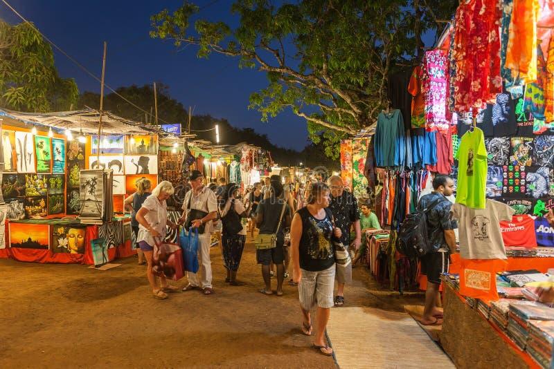 Goa nocy rynek obrazy royalty free