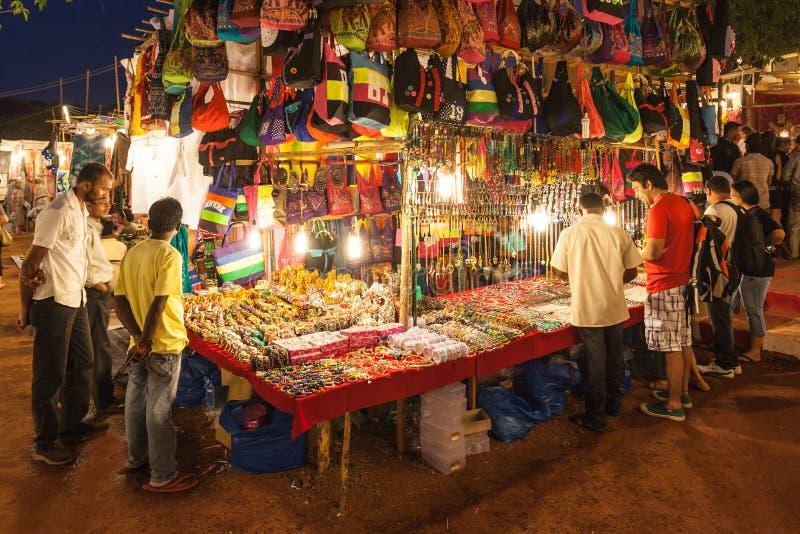 Goa nocy rynek zdjęcia stock