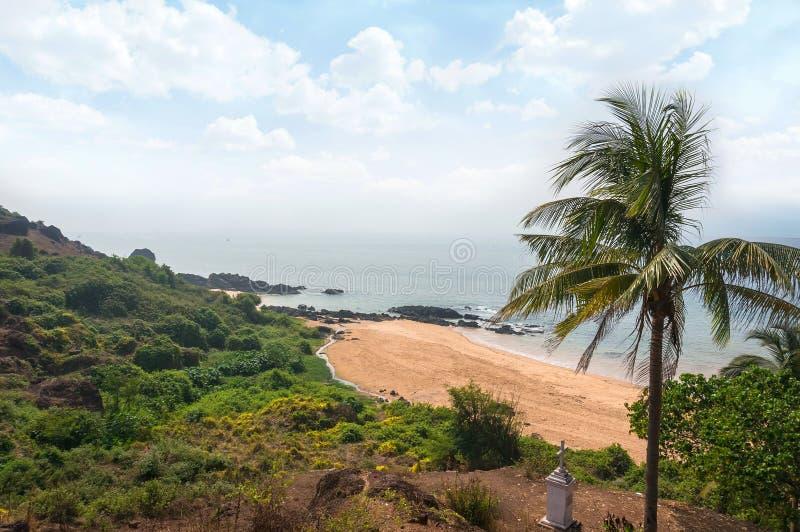 Goa plaża Vasco Da Gama ah bizhyuteriya goa ind indyjski pobliski morze handluje kobiety obraz royalty free