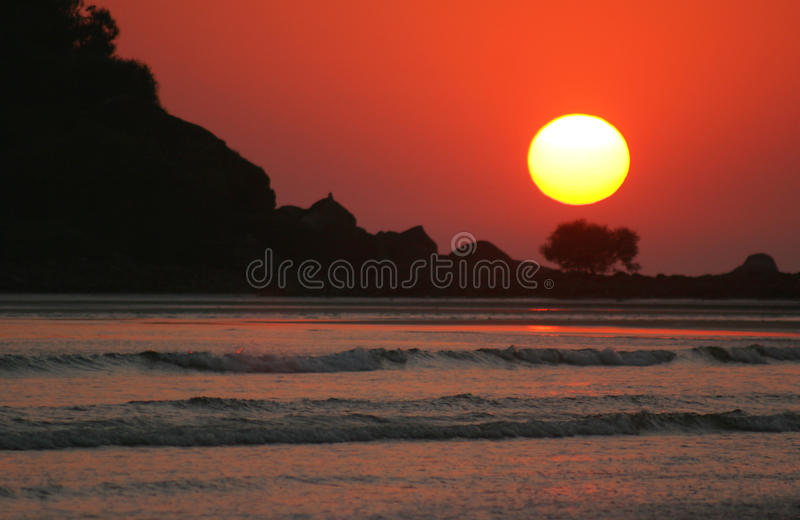 Goa Sonnenuntergang lizenzfreie stockfotos