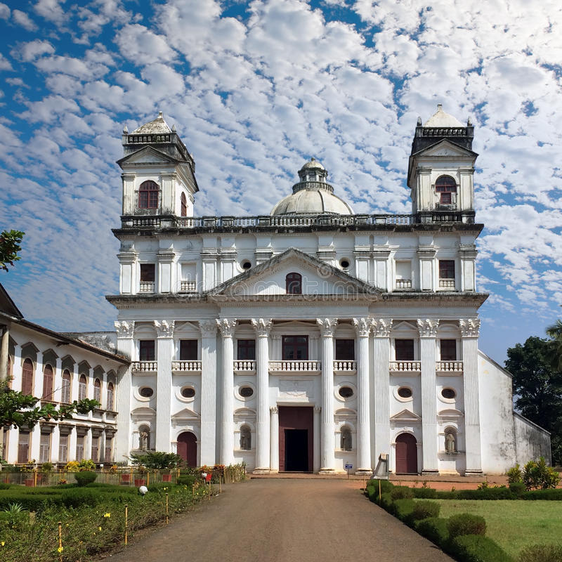 goa stary Świętego Cajetan kościół obrazy stock