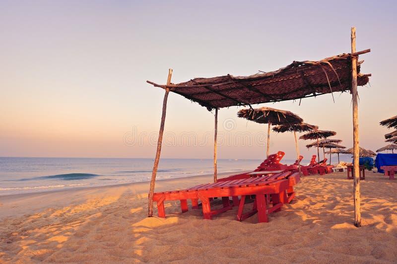 Goa strand royaltyfri foto