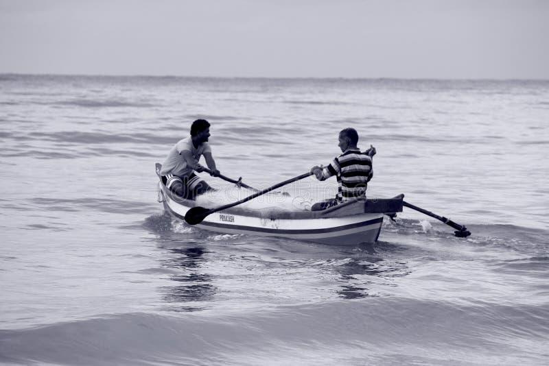 Goa Time: Fisher men royalty free stock image