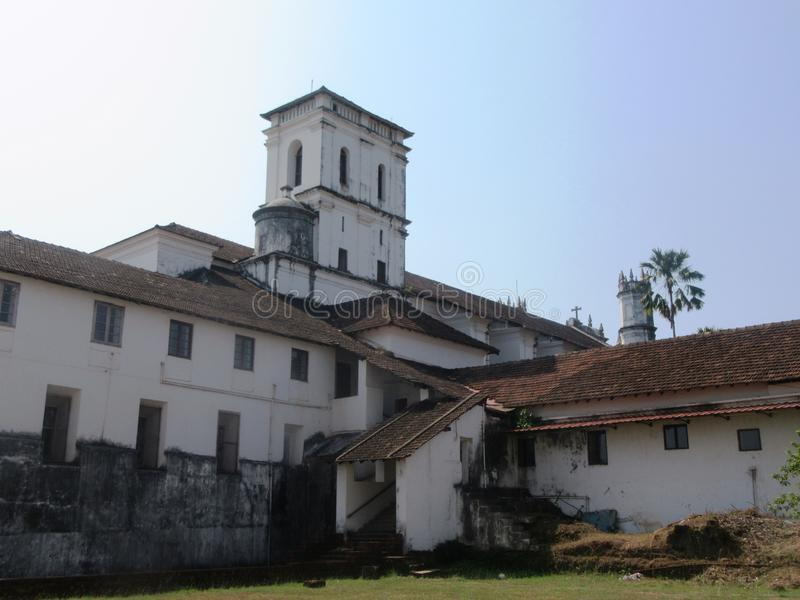 Goa viejo y sus iglesias foto de archivo