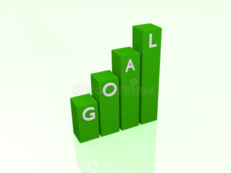 Download Goal stock illustration. Image of objective, green, motivate - 26164190