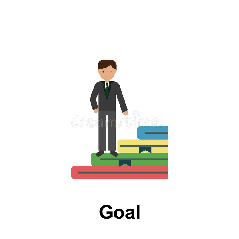 Goal color icon. Element of business illustration. Premium quality graphic design icon. Signs and symbols collection icon for. Websites, web design, mobile app royalty free illustration