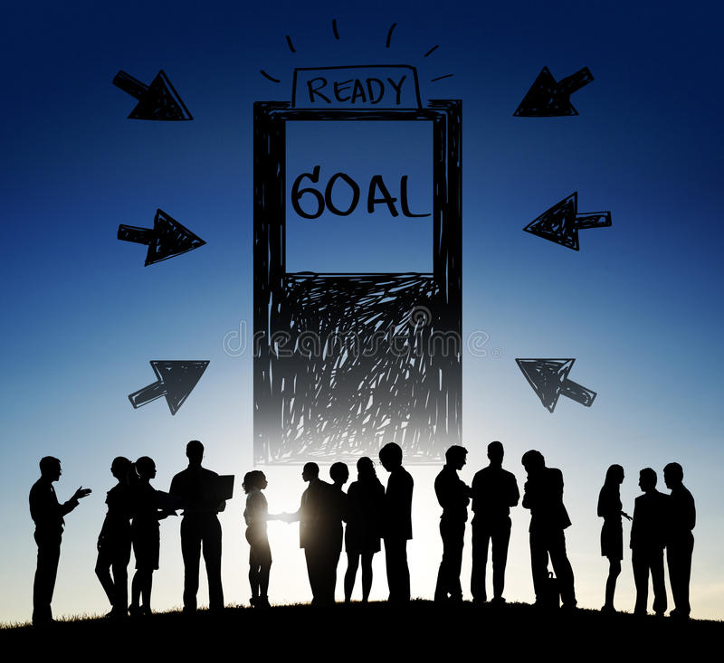 Goal Expectations Aim Opportunity Success Concept royalty free stock images