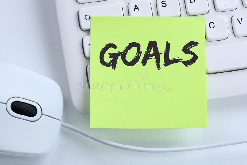 Goal goals success aspirations growth business concept mouse. Computer keyboard stock photography