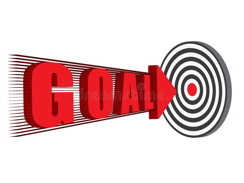 Download Goal hitting the target stock vector. Image of sign, vector - 32887109