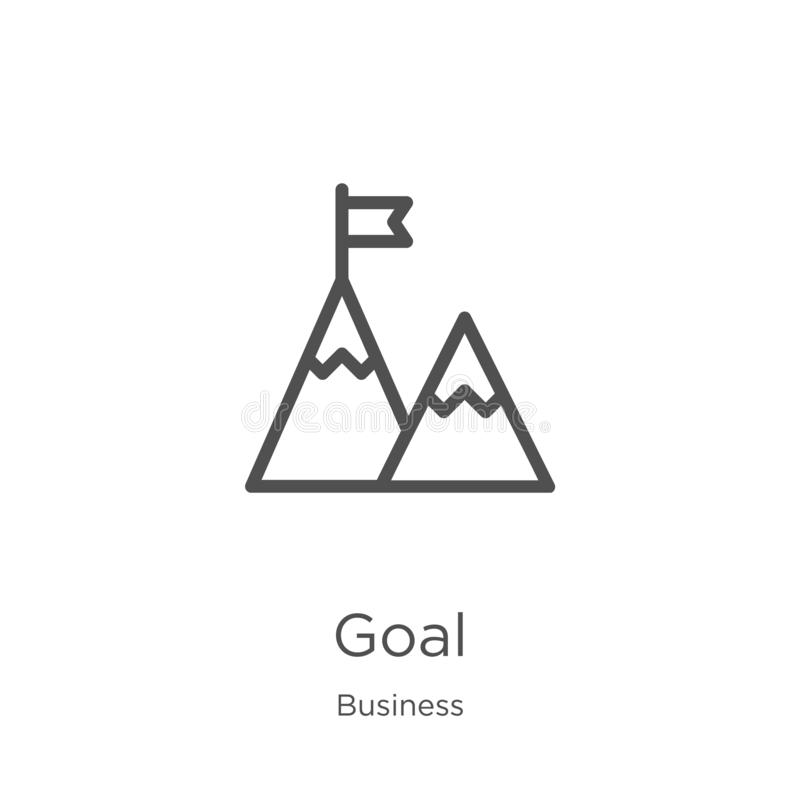 Goal icon vector from business collection. Thin line goal outline icon vector illustration. Outline, thin line goal icon for. Goal icon. Element of business vector illustration