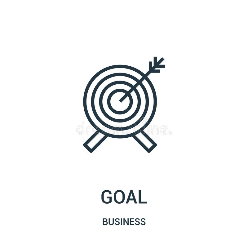 Goal icon vector from business collection. Thin line goal outline icon vector illustration. Linear symbol for use on web and. Mobile apps, logo, print media stock illustration