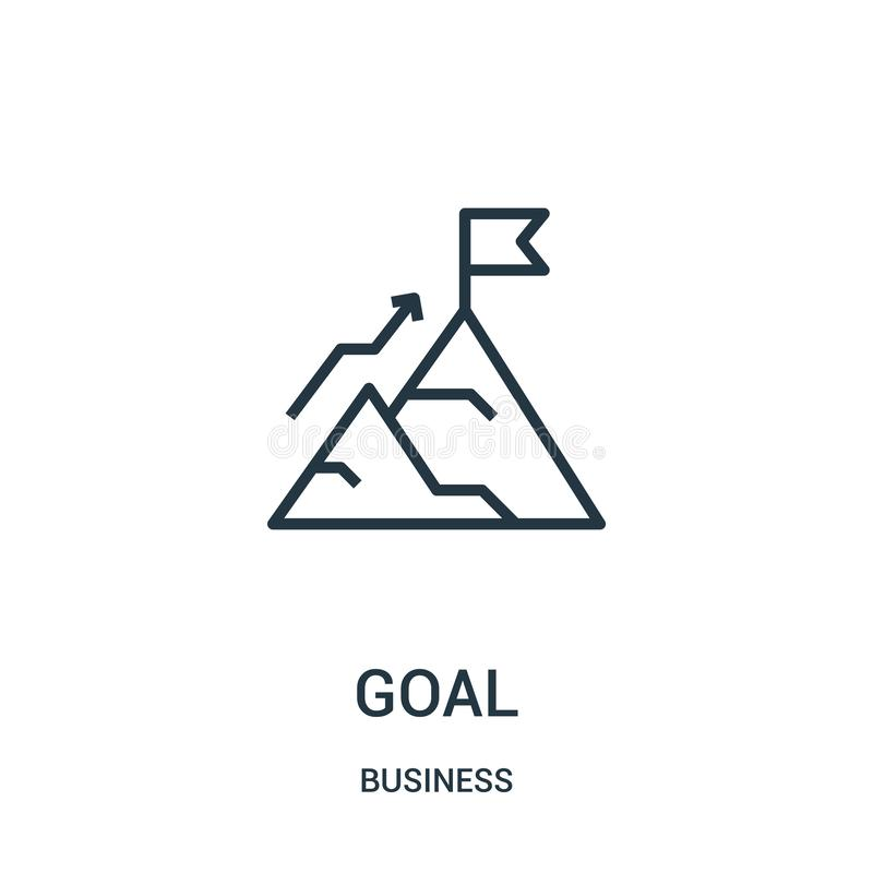 Goal icon vector from business collection. Thin line goal outline icon vector illustration. Linear symbol for use on web and. Mobile apps, logo, print media royalty free illustration