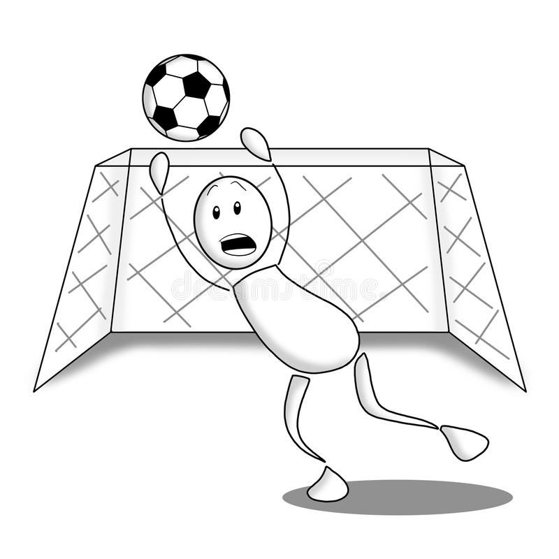 Goal keeper royalty free stock image