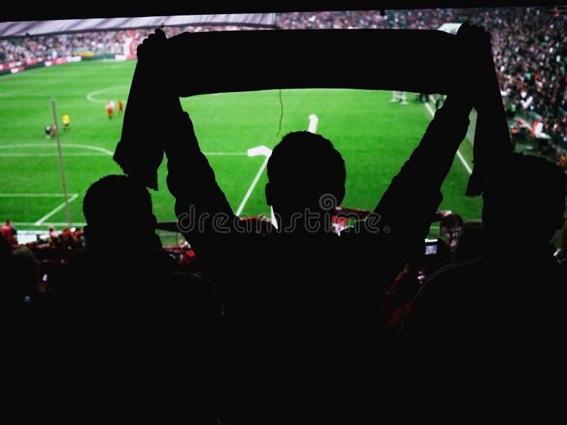 Goal!nSoccer fans stadium stock photo