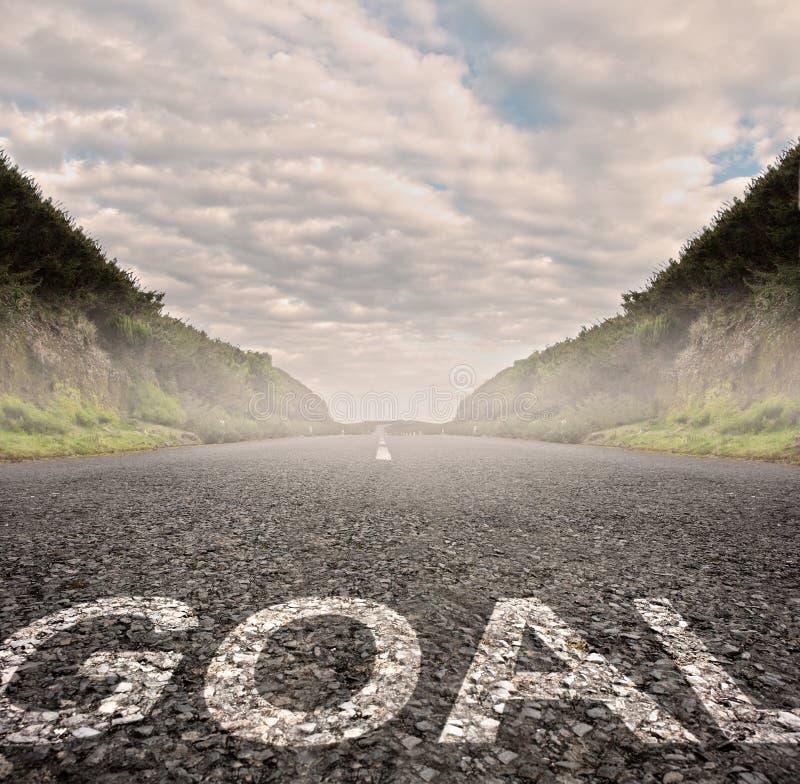 Goal painted on asphalt royalty free stock image
