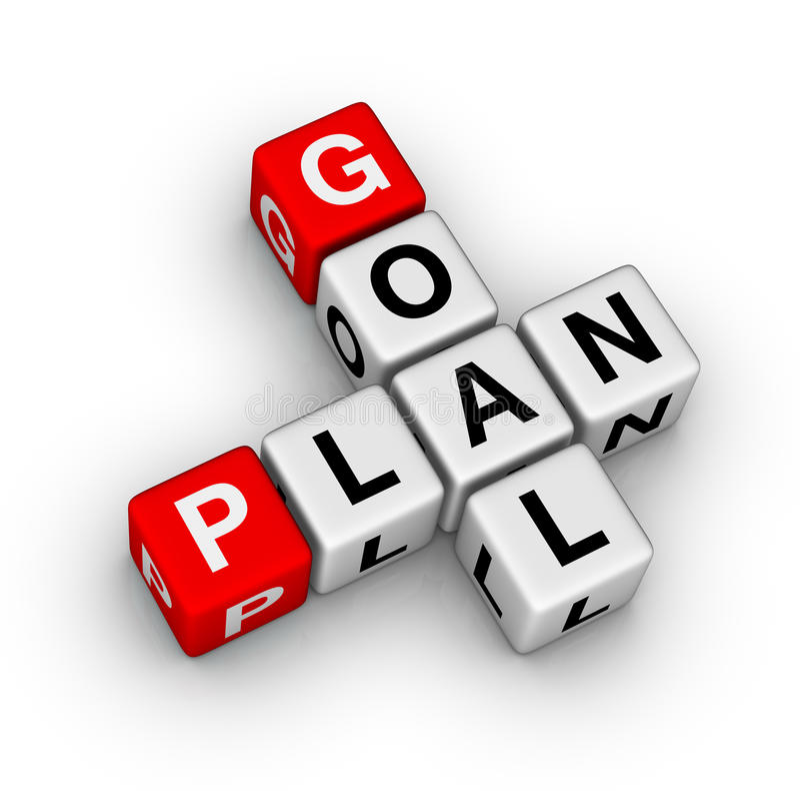 Goal plan royalty free illustration