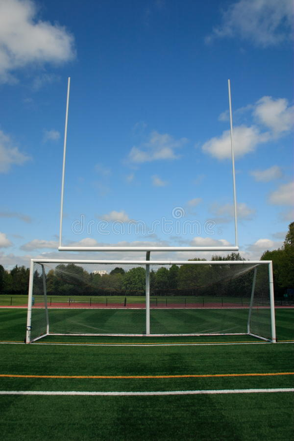 Goal Post And Soccer Net Stock Images