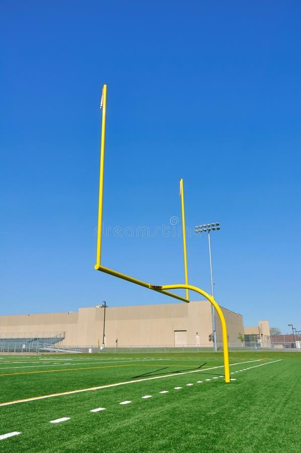 Goal Posts on American Football Field stock photo