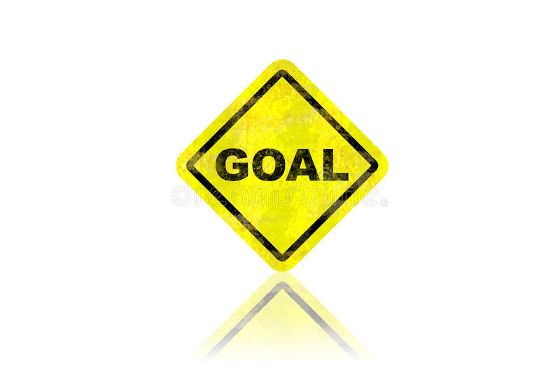 Download Goal Road Sign With Reflection Stock Illustration - Image: 25360729