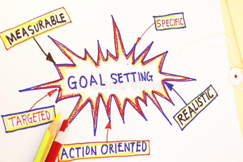 Goal setting royalty free stock photo