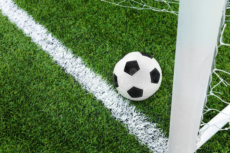Download Goal. Soccer Ball In Goal Area. Stock Image - Image: 20379705