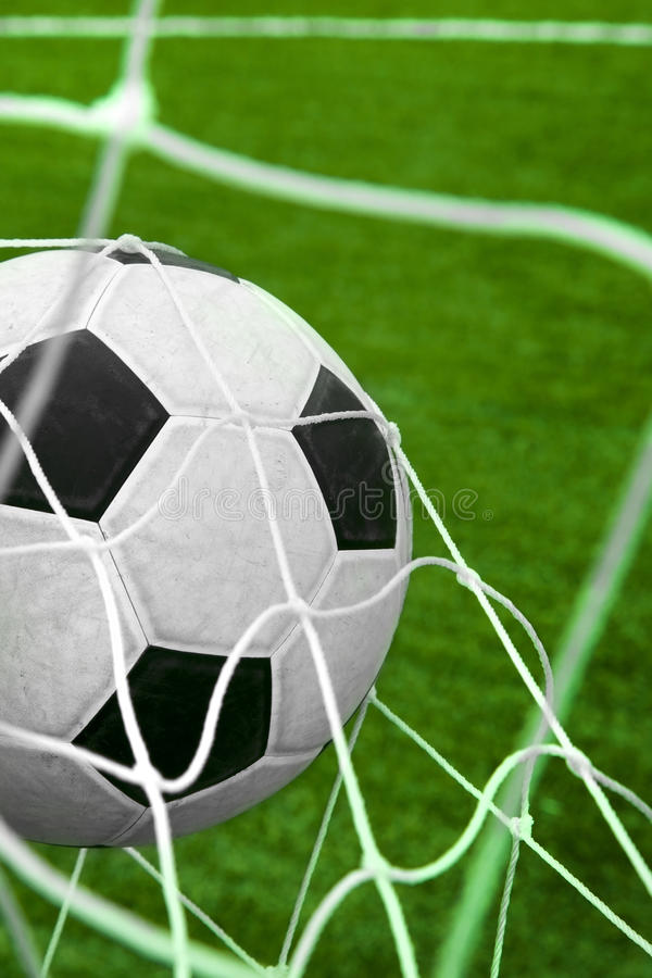 Download Goal. Soccer Ball In A Net. Stock Image - Image: 20379119