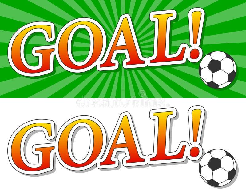 Goal Soccer Logo royalty free illustration
