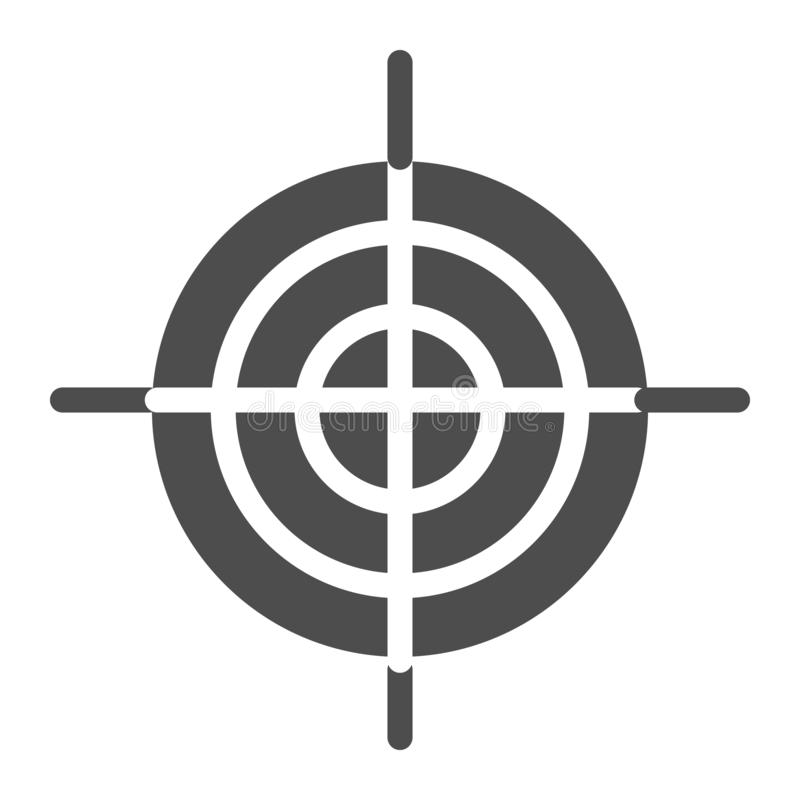 Goal solid icon. Aim vector illustration isolated on white. Target glyph style design, designed for web and app. Eps 10. vector illustration