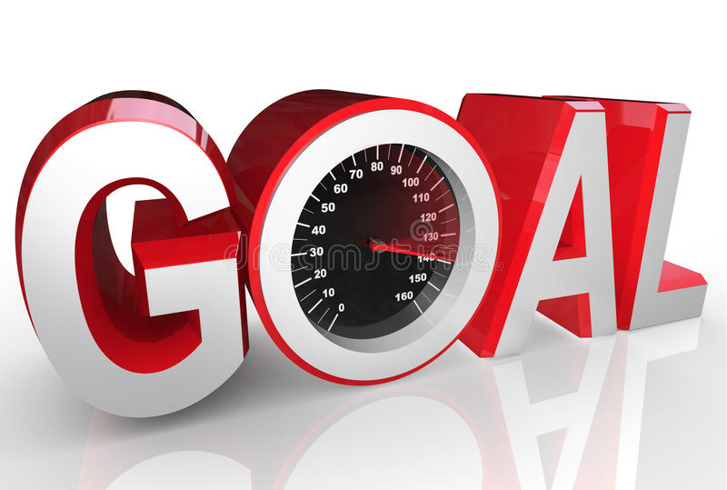 Download Goal Speedometer Quickly Racing To Success Achievement Stock Illustration - Image: 31864319