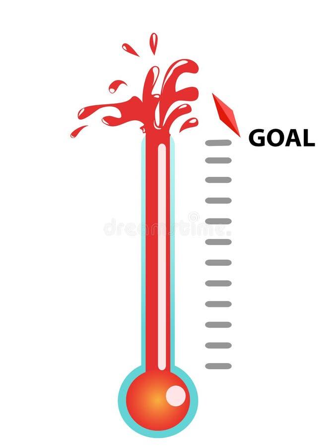 Goal thermometer stock illustration