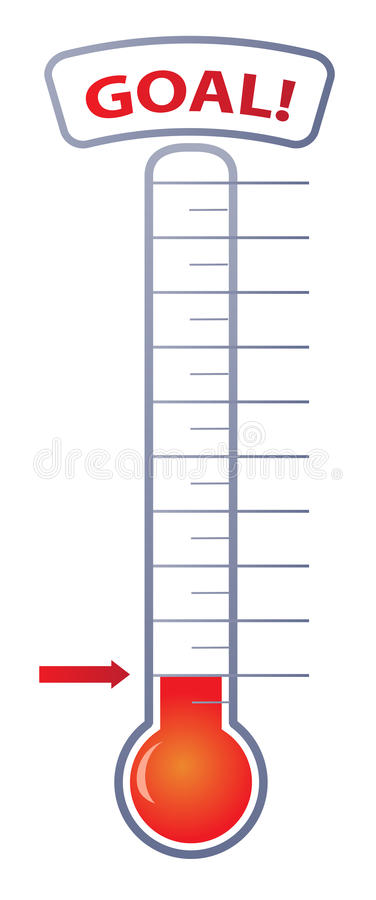 download fundraiser goal thermometer stock vector illustration of chart white 31483461