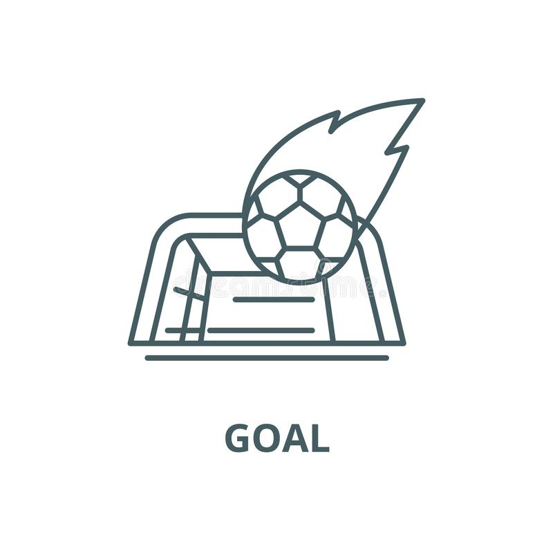 Goal vector line icon, linear concept, outline sign, symbol stock illustration