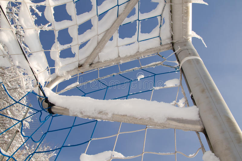 Download Goal in the winter stock image. Image of soccer, winter - 17585047