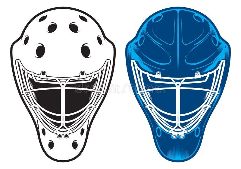 Goaliehjälm Hockeyutrustning stock illustrationer