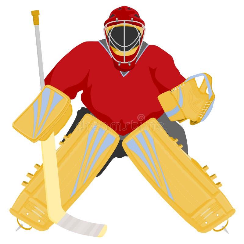 goaliehockey royaltyfri illustrationer