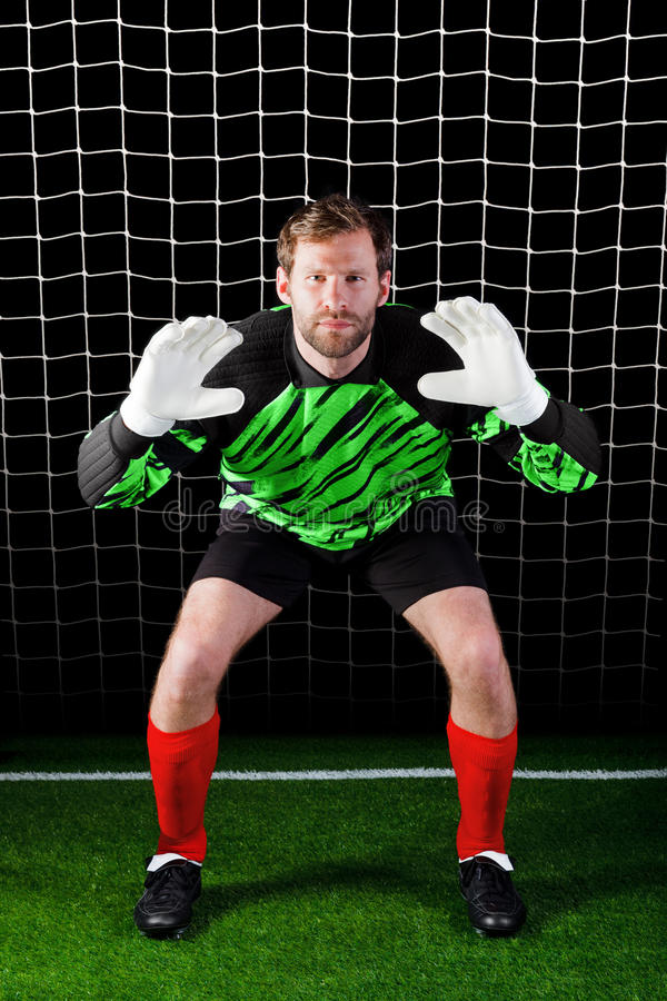 Download Goalkeeper stock image. Image of pitch, football, facing - 20093283
