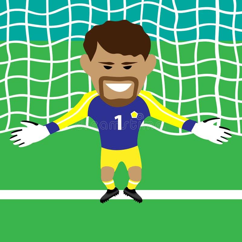 goalkeeper stock illustratie