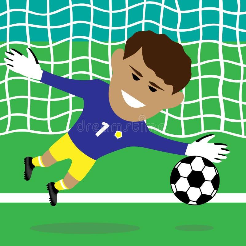 goalkeeper royalty-vrije illustratie